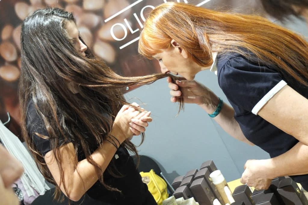 Olio di argan sui capelli